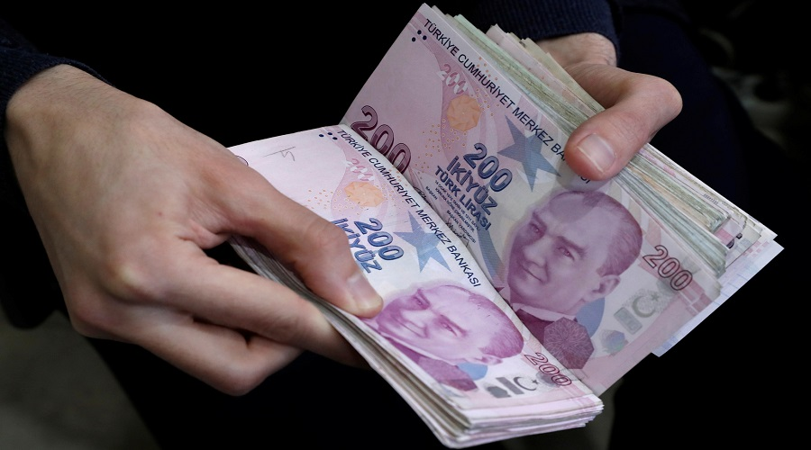 The Turkish lira fell to the lowest level since May