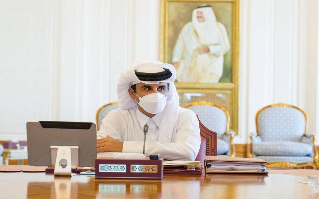 Emir of Qatar receives a verbal message from the Custodian of the Two Holy Mosques