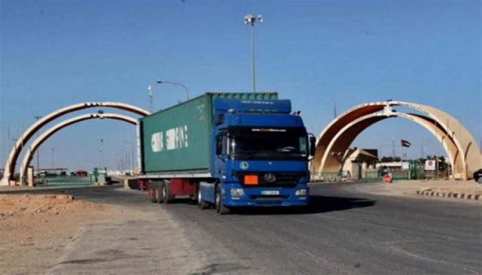 After 7 years of suspension .. resume work to enter Jordanian trucks to Iraq