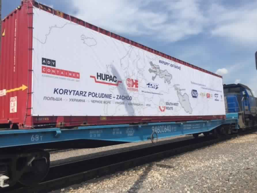 The experimental transport train cut the distance from Iran to Poland within 8 days