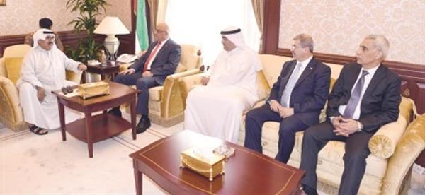 استقبل وزير التجارة العراقي بعد حضوره اللجنة الوزارية المشتركة مع الروضان