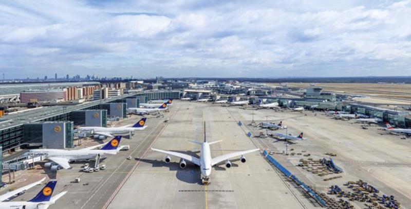 5.6 ملايين مسافر عبر مطار فرانكفورت في مارس