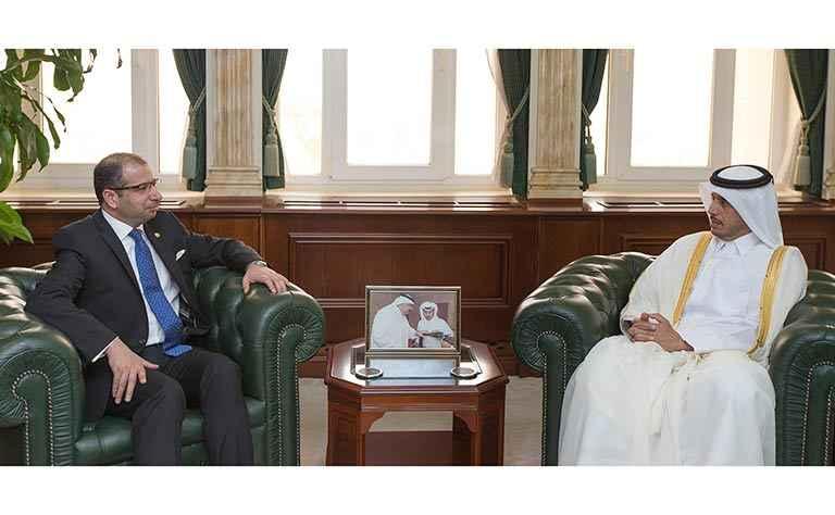 معالي رئيس مجلس الوزراء يستقبل رئيس مجلس النواب العراقي