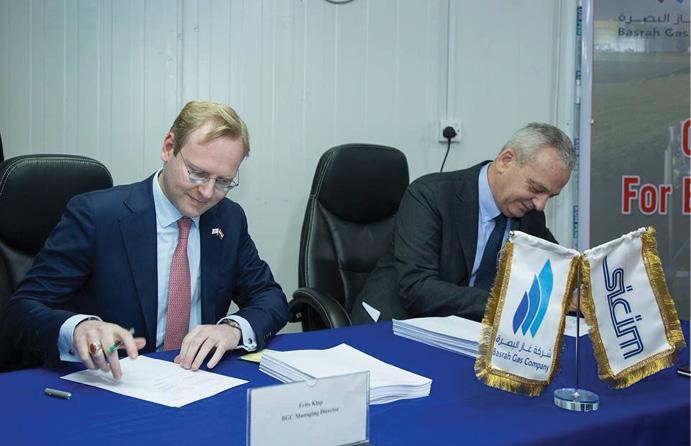 شركة ايطالية تبدأ بإنشاء مصنع البصرة الجديد لمعالجة الغاز