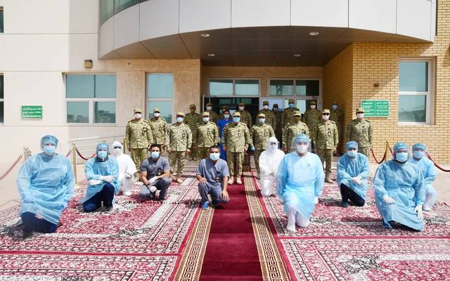 The Kuwaiti National Guard opens a quarry to treat its employees from Corona