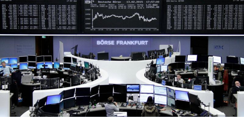 المؤشرات الأوروبية ترتفع وسط ترقب اجتماع المركزي الأوروبي