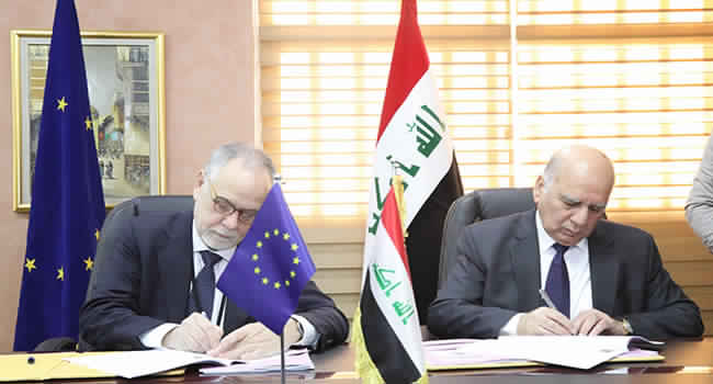 العراق يحصل على 72 مليون يورو ضمن ثلاث اتفاقيات